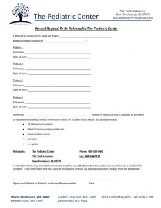 Patient consent to send records to tpc pedcenter patient consent form altavistaventures Gallery
