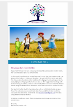 October Newsletter The Pediatric Center
