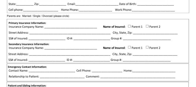 Family Registration Form